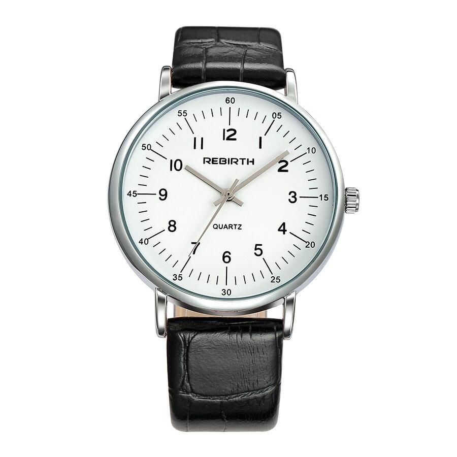 Muoti yksinkertainen miehet kvartsi kellot vedenpitävä nahka - Miesten kellot