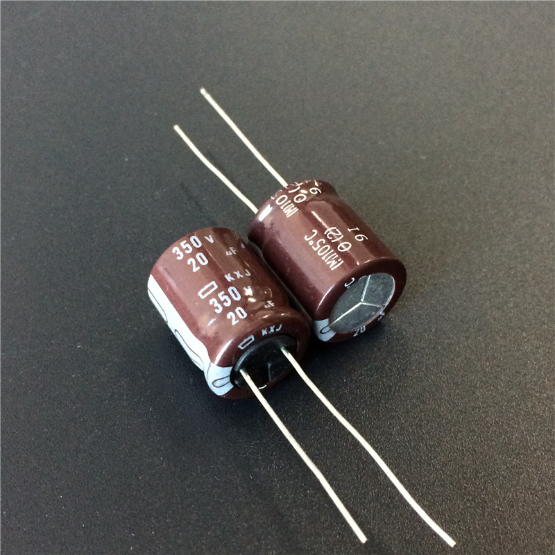 10pcs 20uF 350V NCC KXJ Series 12.5x15mm Long Life High Reliability 350V20uF Aluminum Electrolytic Capacitor