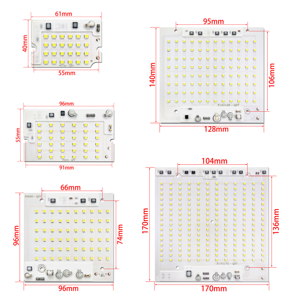 10PCS LOT LED 2835 SMD CHIP 10W 20W 30W 50W 100W AC220V with Smart IC SMD CHIP For DIY Floodlight Outdoor lamp led chip in Light Beads from Lights Lighting