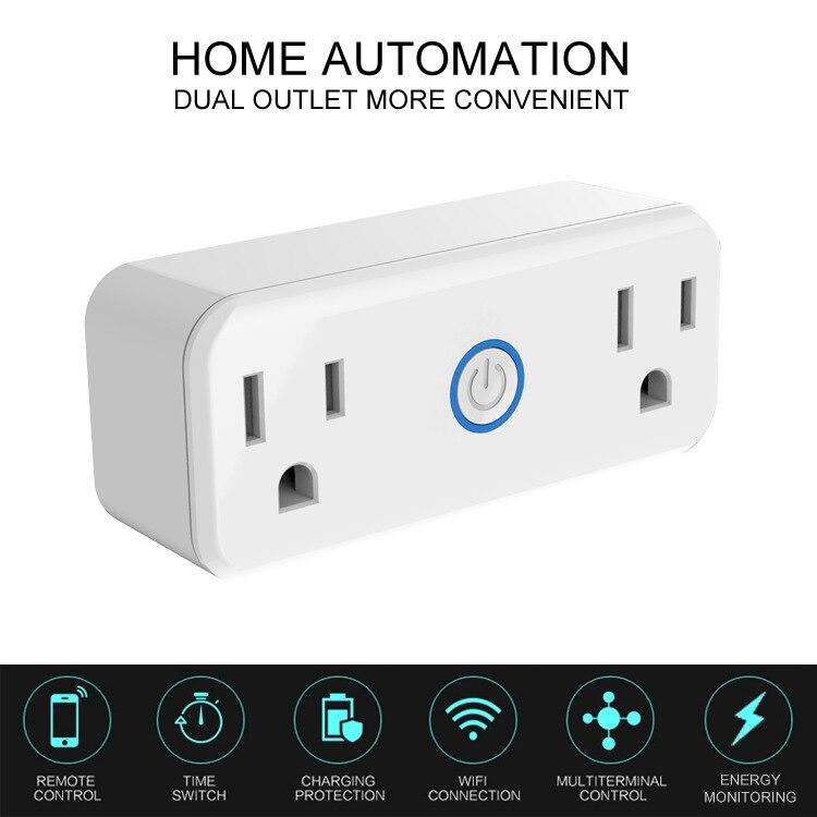 Livraison gratuite Mini WiFi prise intelligente minuterie wifi prise prise prise intelligente télécommande sans fil commandes pour iphone Ipad Android
