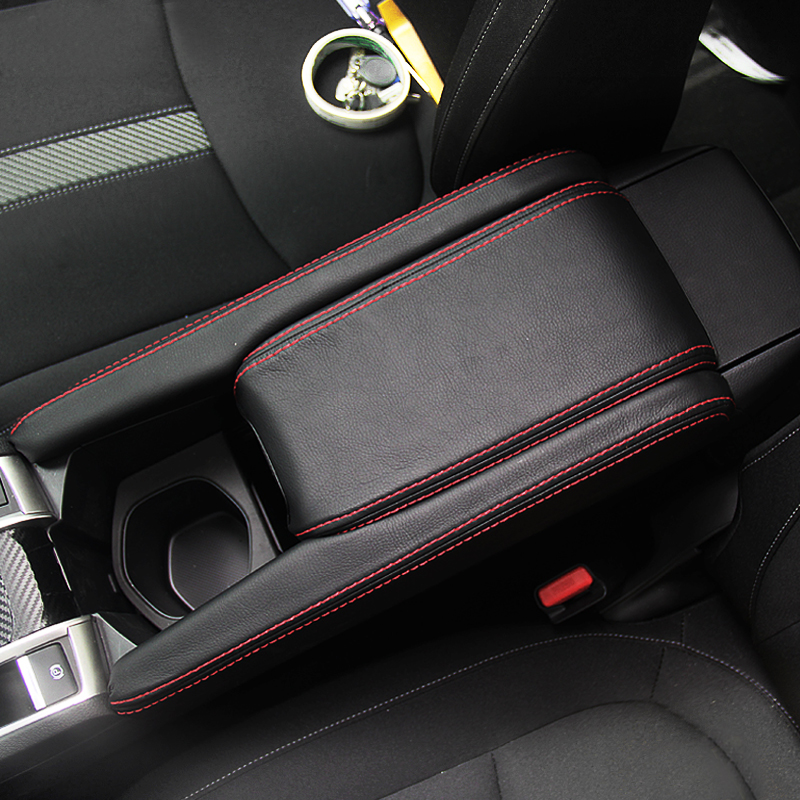 For Honda Civic 10th Gen 2016 2017 3pcs Car Center Console Lid Armrest Box Microfiber Leather Protection Cover