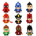 Mejor Regalo avenger superhéroe Superman/Batman/Spider Man pendrive Usb 2.0 Usb flash drive de 8 GB 16 GB 32 GB 64 GB pen drive de dibujos animados