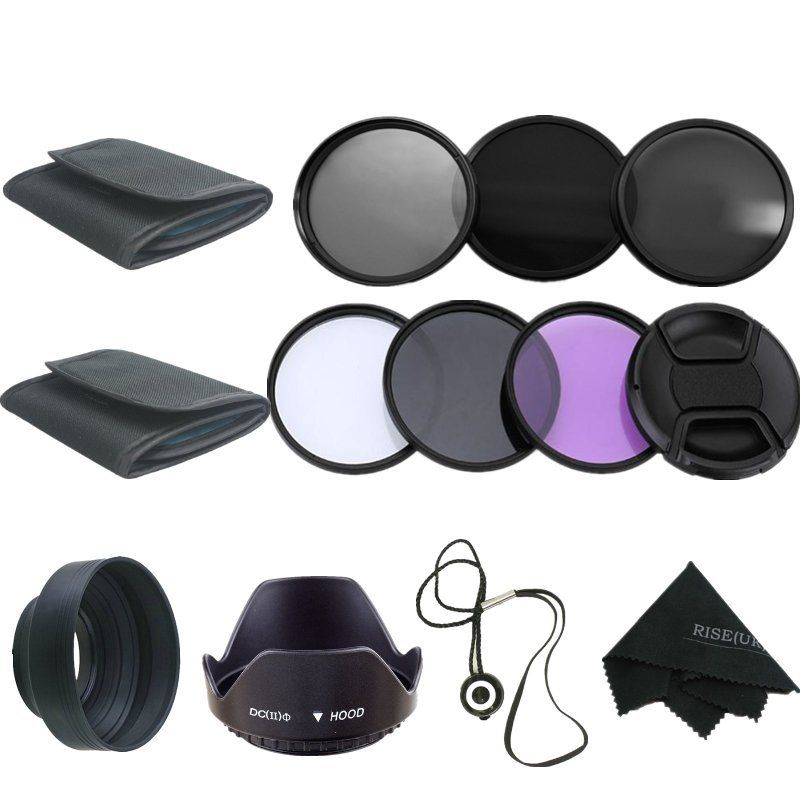 58MM RISE (UK) UV CPL ND 2 4 8 Filter Kit til Canon Rebel T6i T6s T5i - Kamera og foto - Foto 1