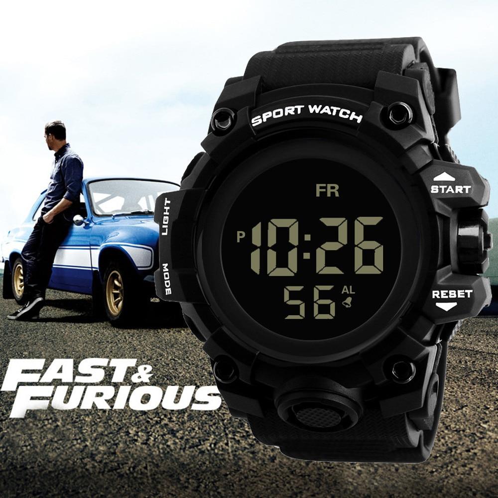 Luxury Men Analog Digital Military Army Sport New Fantastic Watch LED Out Door Watch Loop Link Waterproof Wrist Watch fantastic watch men 1pc men
