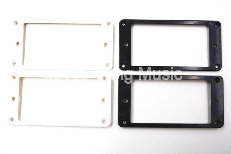 ⊱4pcs Black White Flat Plastic Humbucker Pickup Frame Holder ...