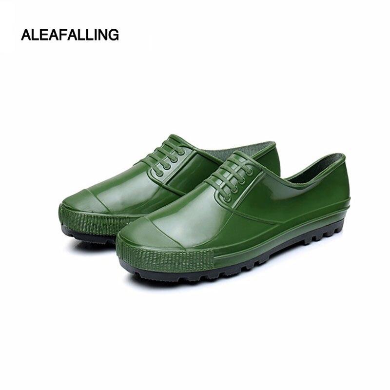Aleafalling Neue Sommer Designer Schwarz Regen Stiefel Männer Mode Gummi Ankle Stiefel Für Männer Slip Auf Schuhe Unisex Stiefel Hombre M006