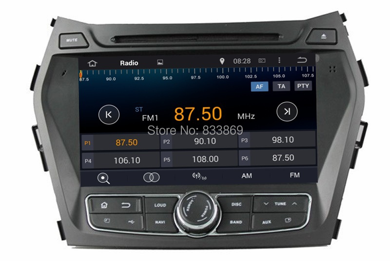 1024*600 HD 2 din 8″ Android 5.1 Car Radio DVD for HYUNDAI IX45 Santa Fe 2013 2014 Quad Core Car Audio 3G/WIFI Bluetooth USB DVR