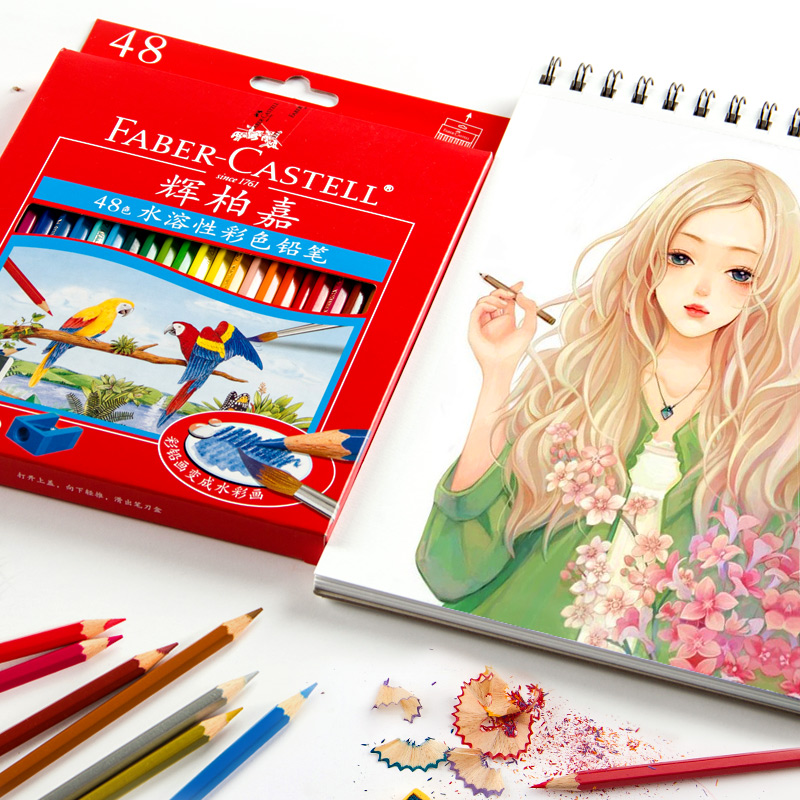 Faber castell 72 Colors Water Colored Pencil Painting Colorful Watercolor Pen Student Supplies Paint Pencils for Drawing Sketch faber castell 30 colors cute creative colorful crayons connector watercolor gel pen for drawing art stationery supplies