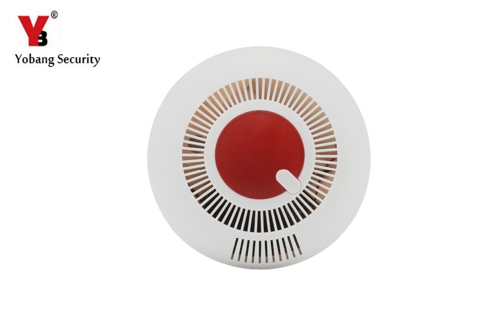 Yobang Security High Sensitivity Independent Fire Smoke Alarm Alert Sensor For Home Security Kitchen Restaurant