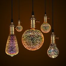 3D LED Lamp Edison Light Bulb Vintage Decoration E27 110V 220V LED Filament lamp Copper Wire String Replace Incandescent Bulb(China)