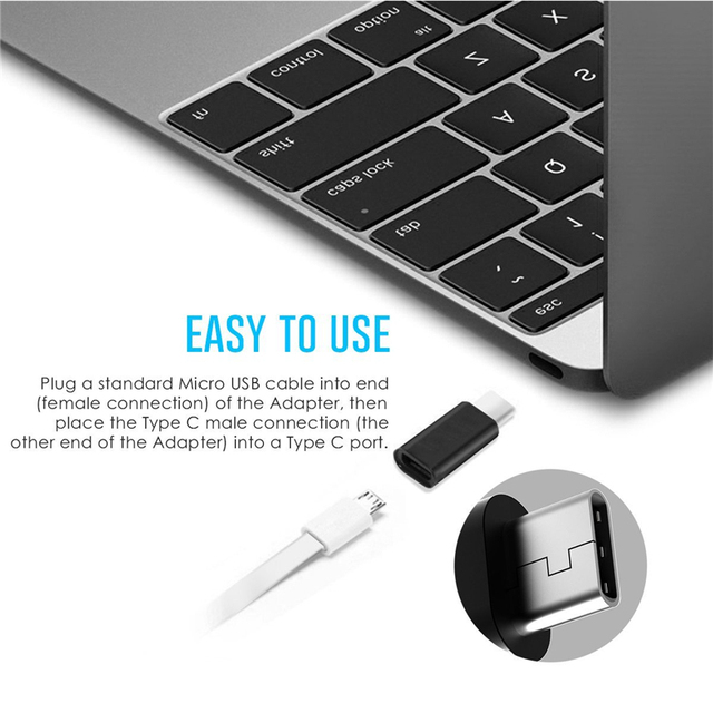 Micro USB To Type-C Data Sync Charge Adapter Microusb To Type C Otg Connector