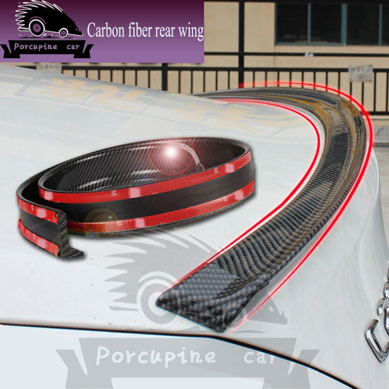 Carbon Fiber Car Rear <font><b>spoiler</b></font> Wing FOR <font><b>MAZDA</b></font> Hyundai Toyota Honda BMW VW Mitsubishi Ford Nissan Hatchback Sedan Car Accessories image