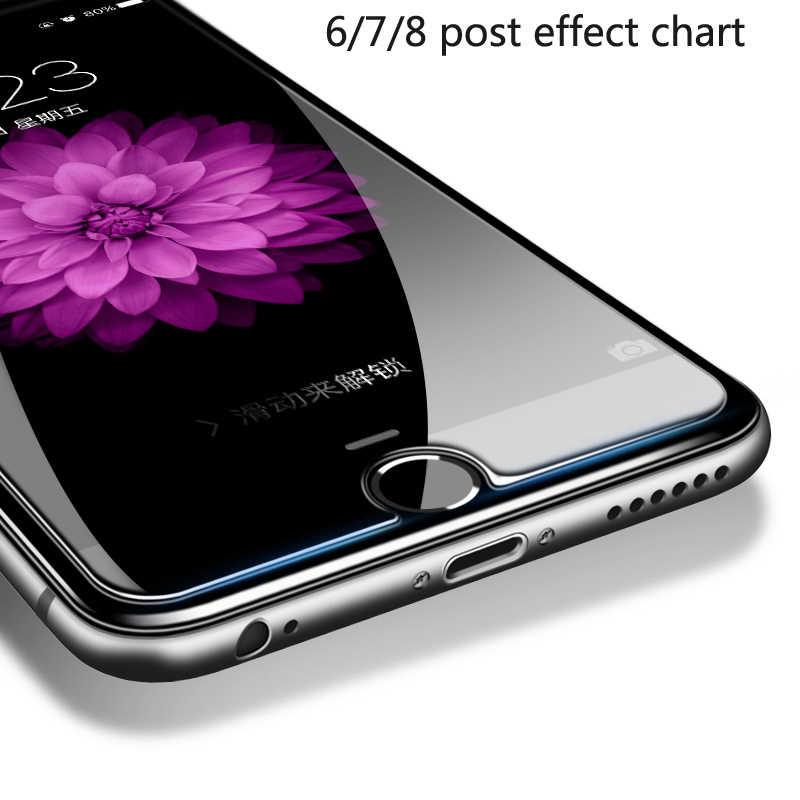ABAG الزجاج المقسى واقي للشاشة لفون 6 7 8 6 زائد 7 زائد 8 زائد X XS ماكس XS XR 4 5 5 SE