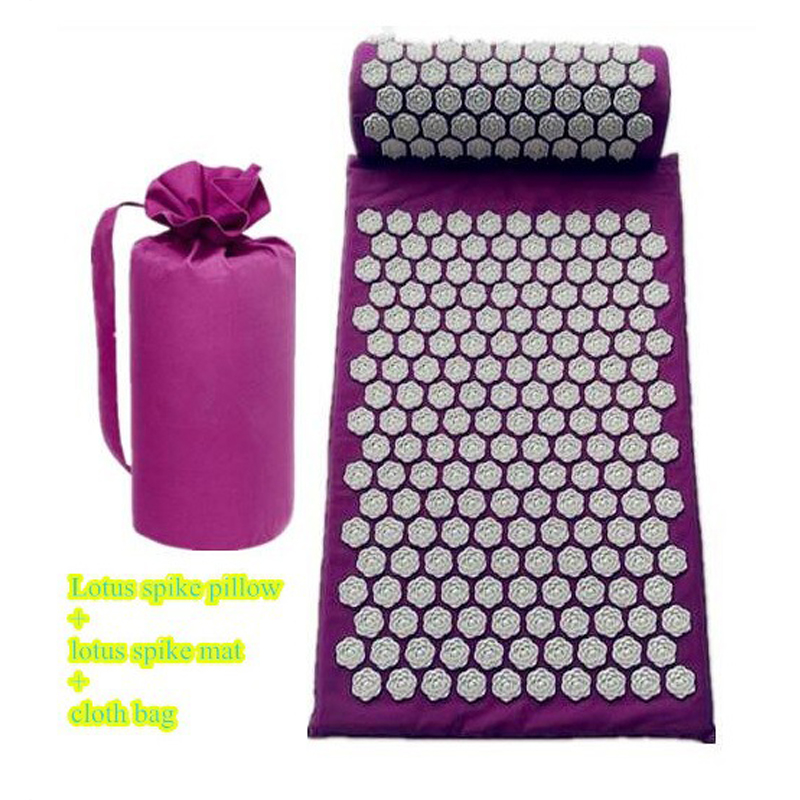 Yoga Spike Acupressure Mat Pillow Set Back Body Massager Acupuncture Cushion Mat Pain Relieve Spike Yoga Mat With Pillow