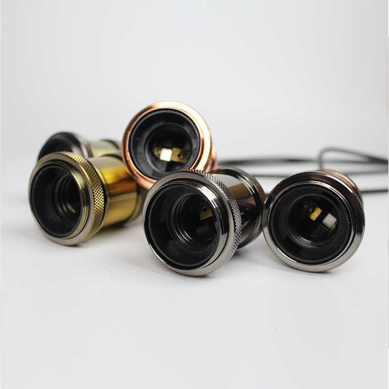 Алюминиевый подвесной светильник E27 держатель лампы для 110 V 220 V led/Лампа накаливания (Эдисона) Винтаж Ретро Настенный декор подвесной светильник для дома/для окружающей среды
