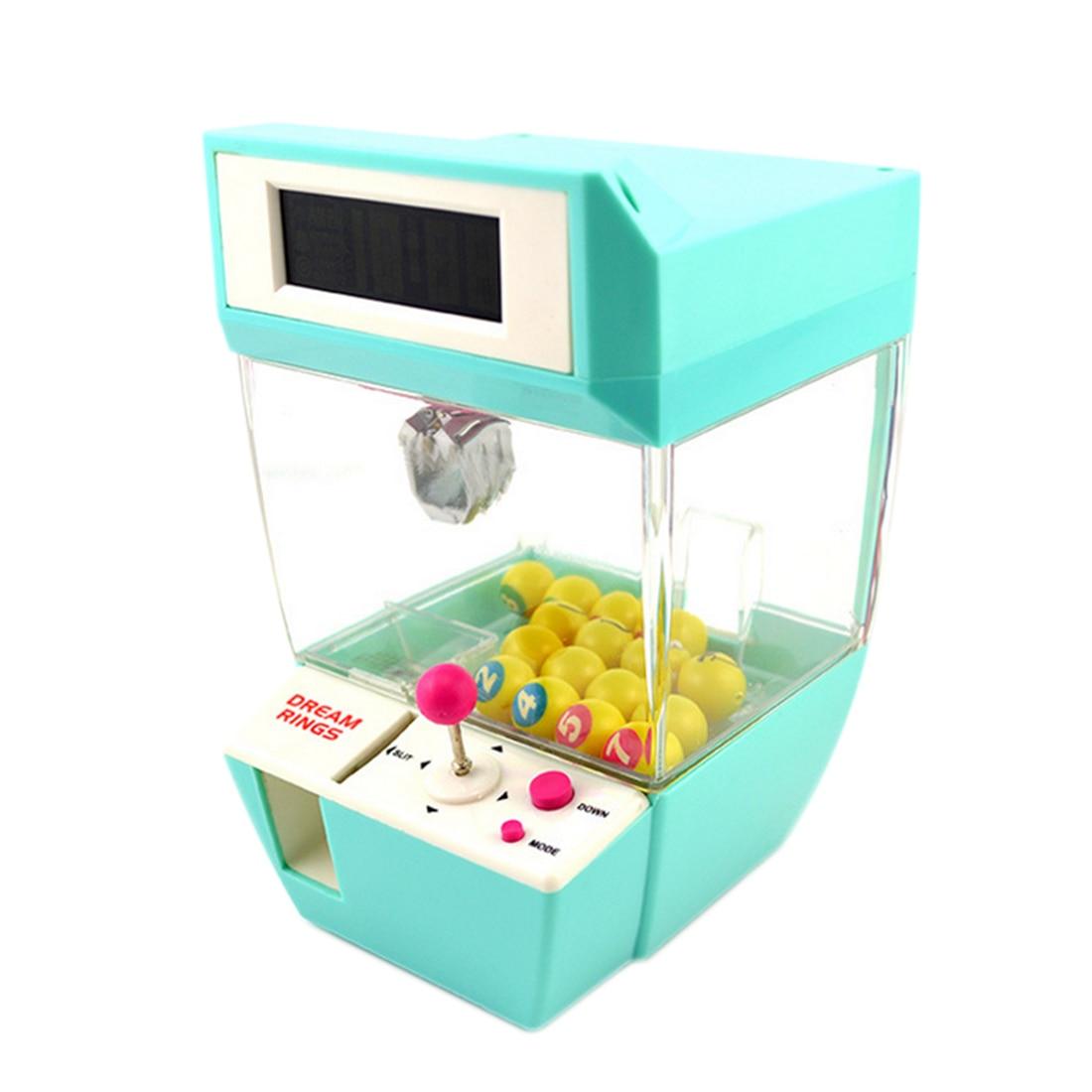 Monnayeur Bonbons Grabber De Bureau Poupée Bonbons Catcher Nouveauté Gag Jouets Grue Machine avec D'alarme Horloge Fonction Boules Aléatoire