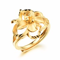 Women's flowers sand gold ring wedding bride accessories wholesale
