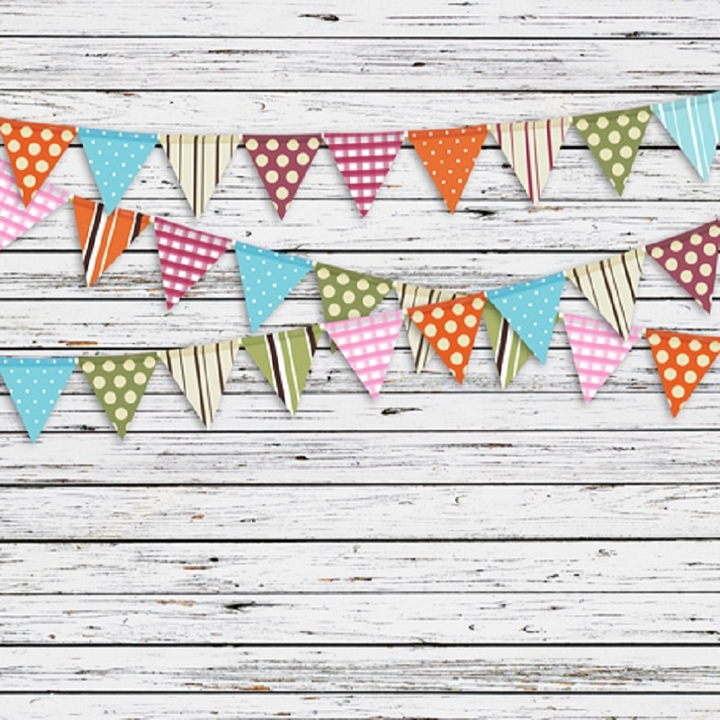 Birthday Party Studio Photography Background Children Backdrops Colored Flags Wood Paneled Walls Floor For Baby In From Consumer Electronics