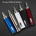 Новые Оригинальные GS эго II 3200 мАч батареи для Электронной Сигареты Обновляется ЭГО Батареи Для 510 СЕ4 MT3 Распылитель проекты устранимые батареи