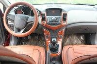 Руководство 7 шт. имитация деревянные окна консоли кнопку воздуха на выходе приборной панели Frame для Chevrolet Cruze 2009 10 11 12 13 14 15 AAA080