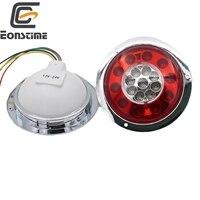Eonstime 2pcs 12V 24V Car Side Lamp Light 19LED Truck Trailer Lorry Brake Stop Turn Tail