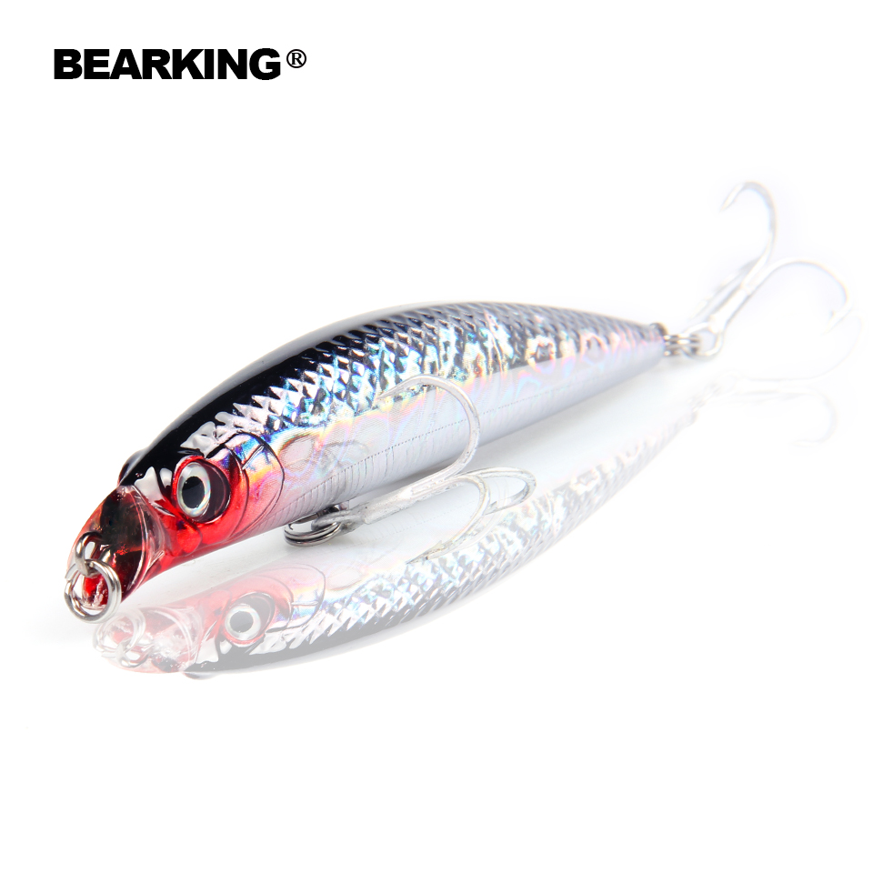 Hot model bearking Retail fishing lures, floating minnow,penceil bait size 90mm 10g,magnet inside,dive 0.5m