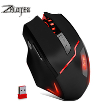 ZELOTES F-18 Dual-mode Gaming Mouse6 Level 3200DPI 500Hz Wireless 7 Color Computer Mouse  2.4GHz With Mini USB