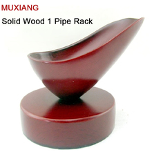 RU- MUXIANG Pipe Fittings Wood Spoon Shape 1 Pipe Racks Smok