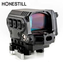 HONESTILL страйкбол Red Dot Reflex Sight Para Fuzil с ИК функцией для страйкбола винтовки Охота прицел R1X Reflex Red Dot Sight