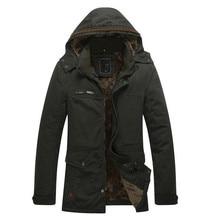 Plus Size 4XL Winter Jacket Men Brand Fashion Casual Thick Warm Cotton Padded Jacket Male Outwear Zipper Fleece Coat Parkas Men