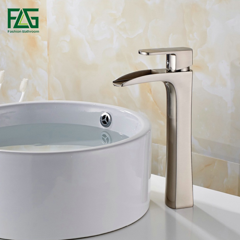 FLG Free Shipping Basin Faucet Nickel Brushed All-copper Deck Mounted Single Lever Vessel Faucet Bathroom Tap Sink Mixer 144-22NFLG Free Shipping Basin Faucet Nickel Brushed All-copper Deck Mounted Single Lever Vessel Faucet Bathroom Tap Sink Mixer 144-22N