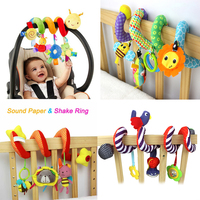 Multi Style Soft 0 12 Months Baby Toy Spiral Bed Stroller Car Seat Hanging Bebe Educational