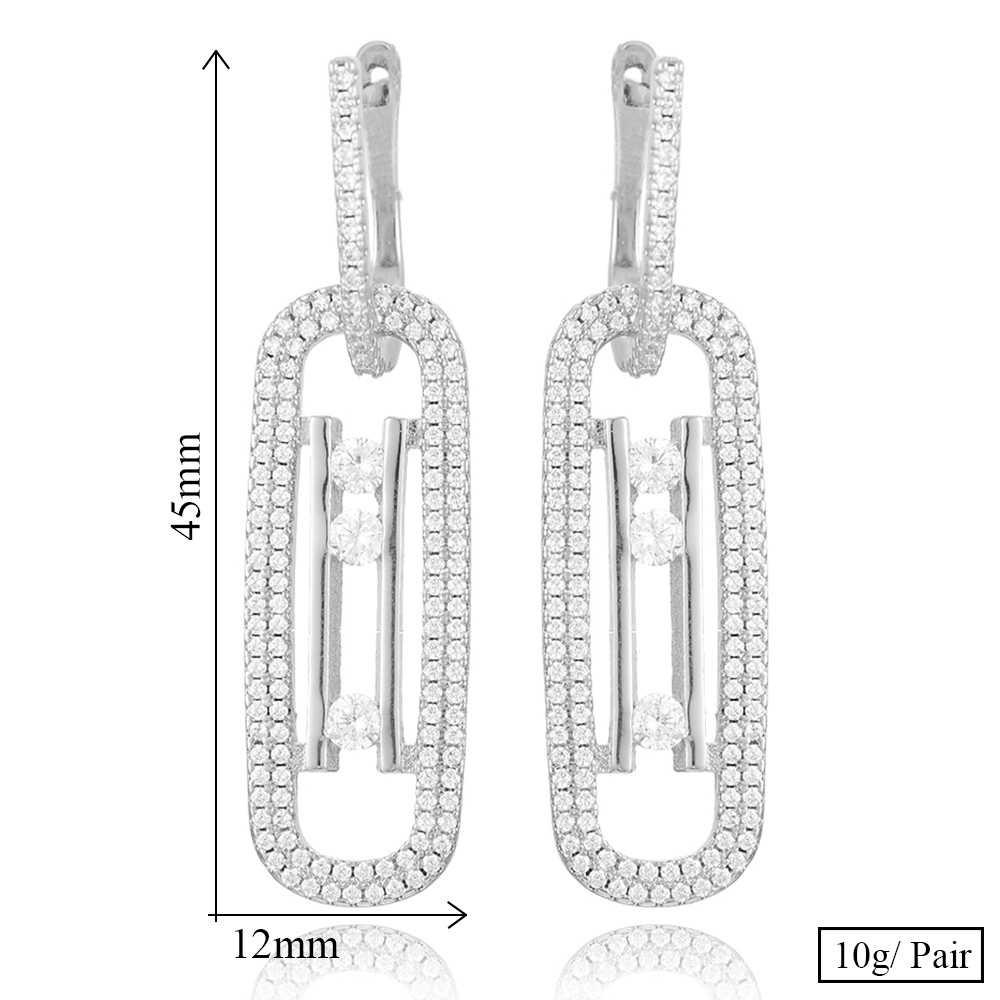 GODKI เรขาคณิตหรูหราสร้อยคอต่างหูชุดดูไบชุดเครื่องประดับหมั้นแต่งงาน brincos para as mulheres 2019