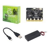 BBC micro:bit nRF51822 KL26Z Bluetooth 16kB RAM + USB Power Charging Cable + Battery Box Case for Kids Beginners Learn Program