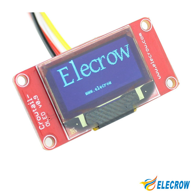 Elecrow Crowtail OLED Display Module for Arduino with 4 Pin Cable 128 x 64 dot Matrix OLED Module DIY Kit