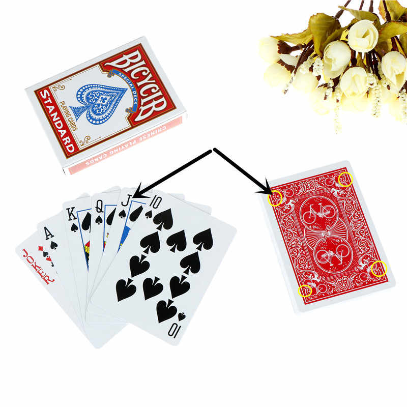 Close-up Street Magic Trick Kind Kind Puzzle Spielzeug Magie Karten Markiert Stripper Deck Spielkarten Poker Magie Tricks