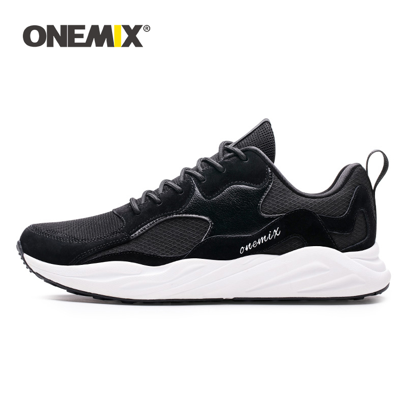 ONEMIX Men Sneakers Retro Running Shoes 2019 Lightweight Breathable Couple Casual Dad Footwear For Outdoor Jogging Tennis Shoes