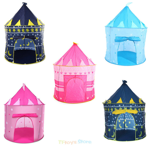e964c32eb Kids Play Tent Tipi Prince Folding Tent Portable Foldable Play House  Children Boy Castle Cubby Kids Gifts Outdoor Toy Tents