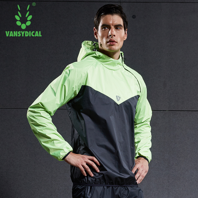 Image 2 - Vansydical Mens Hot Sweat Sports Jackets Zipper Running Tops Windproof Outdoor Sports Hoodies Quick Perspiration Gym Clothes-in Running Jackets from Sports & Entertainment on AliExpress