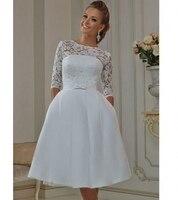 BacklakeGirls пикантные Короткие свадебные платья с рукавами Винтаж Свадебные платья Vestidos Noiva; Robe De Mariage mariée