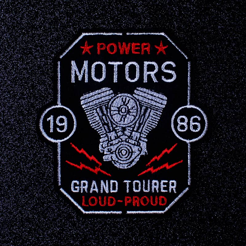 Motorcycle Biker Patch Embroidered Patches For Clothing Knights Templar Seal Badge Patch Iron On Patches On Clothes Stripe DIY in Patches from Home Garden