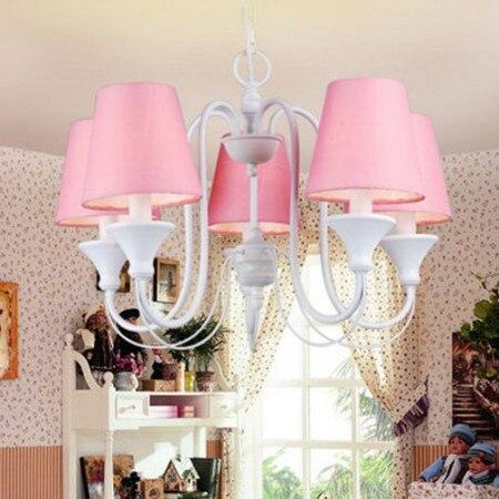 Lampes de chambre et lustres de princesse coréenne lampe de chambre d'enfants américain fer chambre jardin restaurant éclairage