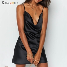 KANCOOLD dress Fashion Women Sexy Black Sleeveless Dress summer Backless Night-club Casual Strap Mini new dress women 2019Apr3