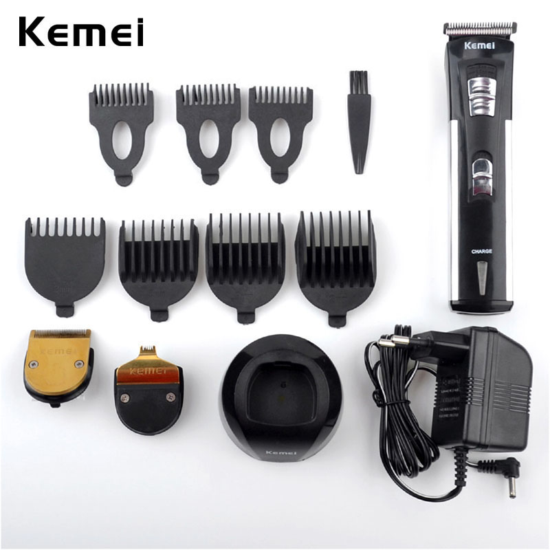 Rechargeable Hair Trimmer Kits Trimer Clipper Hair Cutting Machine Grooming Cutter for Adult Men with Limit Combs 3 Types Blades rechargeable hair trimmer with accessories set silver 220v ac