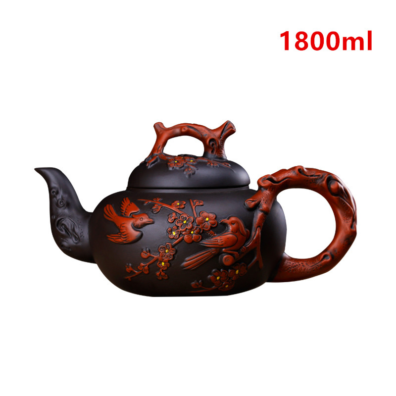 Large Purple Clay Tea pot Chinese YiXing Teapot Drinkware Handmade KungFu Tool Retro Zisha Tea Pot Set 1800ml Tea Ceremony Gift
