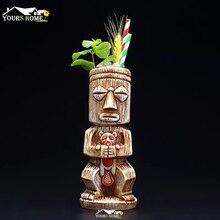 1 штука, 480 мл, Гавайские кружки Tiki, Коктейльная чашка, пивная кружка для напитков, винная кружка, керамические кружки Ku. Ku. Kauioo