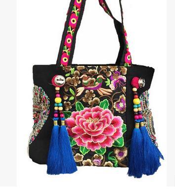 contas borla ombro bolsa da Tipo de Estampa : Floral