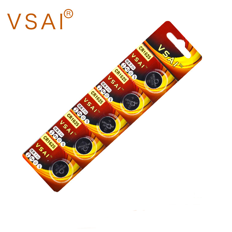 5pcs VSAI CR1625 3V Button Lithium Batteries For 3D Glasses 3D300P Support Drop Shpping in Button Cell Batteries from Consumer Electronics