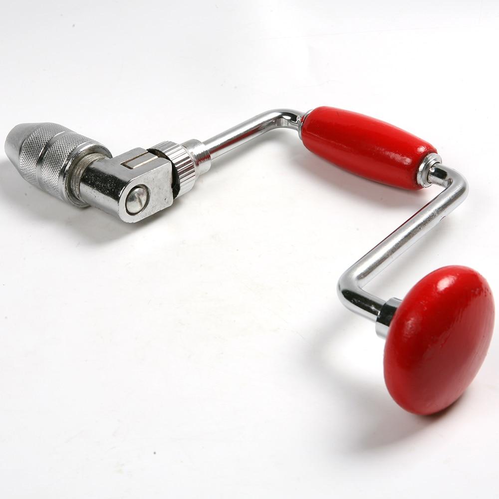 Brace Jaw Chuck Wood Working Handle Boring Drilling Hand Tool + Twist Drill Bit mini pin vise wood spiral hand push drill chuck for jewelry tool micro twist bit