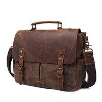 New men's retro handbag men's briefcase outdoor travel oil wax portable canvas bag men's SLR camera bag shoulder bag NB188